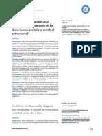 Utilidad Del Ultrasonido en El Diagnostico y Seguimiento de Las Disecciones Carotidea o Vertebral Extracraneal