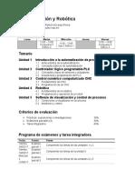 TEMARIO Automatización y Robótica 5A