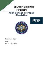 121951536 Kaun Banega Crorepati C Project