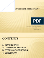 CORROSION POTENTIAL ASSESSMENT