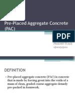 Pre-Placed Aggregate Concrete (PAC)