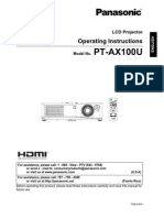 Projector Guide PTAX100U