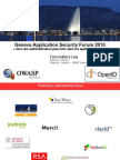 Geneva Application Security Forum 2010 Vers Une Authentification Plus Forte Dans Les Applications Web(2)