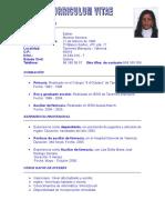 Plantilla Curriculum Vitae Simple