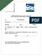 Attestation de Stage 3 3