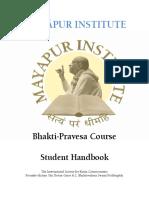 Bhakti-pravesa - Students Handbook 2012