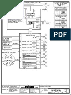 [DIAGRAM_3US]  100b0000-6 | Electrical Components | Computer Engineering | Rotork Wiring Diagram |  | Scribd
