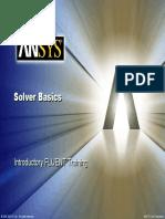 2 Solver Basics