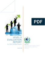 Level 3 Evaluation Report for TESP Training Program 2015_Aw_Jan 2017