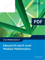 Edexcel AS and A Level Modular Mathematics Core 4