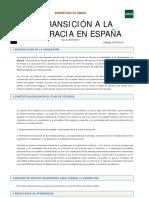 2.5. La Transición a La Democracia en España