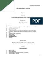 Conventia Postala Universala Si Protocolul Final
