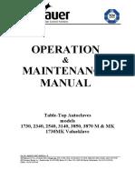 Autoclave Tuttnauer 2340M Support_MAN_Manual