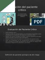 Evaluación Del Paciente Crítico en Anestesia