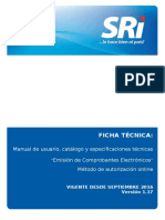 FICHA TECNICA COMPROBANTES ELECTRONICOS versión online