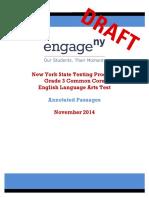 2014 Ela Grade 3 Sample Annotated Passages