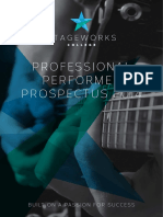 Professional Performer Prospectus