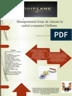 Managementul Forței de Vânzare În Cadrul Companiei Oriflame