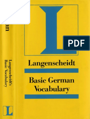 Basic German Vocabularypdf Adjective Syntactic