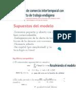 Modelo Real de Comercio Intertemporal Con Oferta de Trabajo Endógena