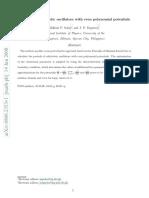 Solon Esguerra Periods of Relativistic Oscillators With Even Polynomial Potentials