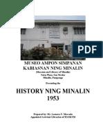 History of Minalin 1953