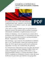 Cómo China saquea a Venezuela  (con la anuencia de Estados Unidos)