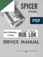 5305 Service Manual Model 44 Front Hub Lok