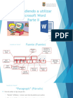 Aprendiendo Utilizar Microsoft Word Parte II