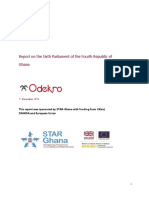 Odekro's Report on 6th Parliament