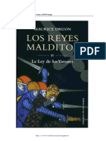 Druon Maurice Los Reyes Malditos 4 La Ley de Los Varones