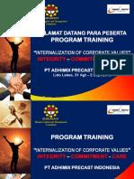 01. Training Conditioning - Internalisasi Corporate Values