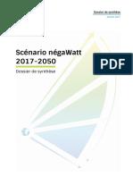 Synthese Scenario Negawatt 2017 2050 2