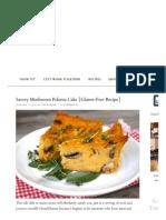 Savory Mushroom Polenta Cake {Gluten-Free Recipe} – Weekend Recipes