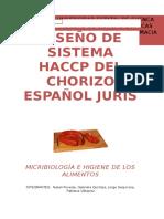 Plan de diseño HACCP Chorizo
