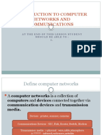 Introduction to Computer Networks and Communications