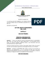 Ley Del Banco Hondureño Del Café