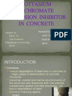 The Performance of Pottasium Dichromate Corrosion Inhibitor In