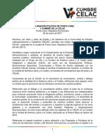 Declaración política de Punta Cana firmada por los países de la CELAC