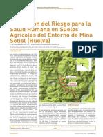 Evaluacion del Riesgo para la salud humana en suels agricolas del entorno de mina sotiel