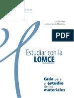 Guía Inicio. Estudiar Con La Lomce