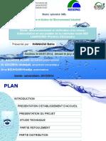 Présentation de conception et dimentionnement d'un réseau d'alimentation en eau potable d'une commune