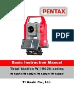 Pentax W-1503 n Manual
