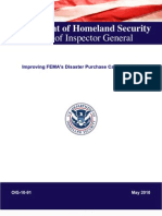 Improving FEMA's Disaster Purchase Card Program