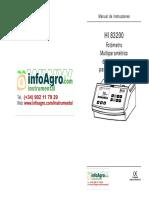 Instrucciones Fotometro Multiparametrico Analisis Aguas Hi83200