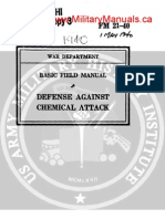 1940 US Army WWII Defense Against Chemical Attack