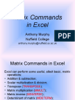 Matrix Commands