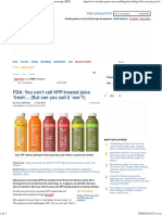 Suja Life 'Raw' Juices in Lawsuit on High Pressure Processing (HPP)