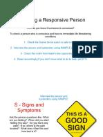 checking a responsive victim