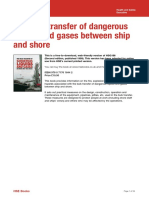 HSE Ship Shore Gas Bulk Transfer